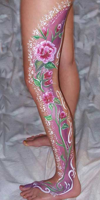 Sally Doodles Color Face Painting And Body Art Design Examples